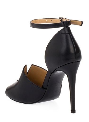Pier Lucci Hakiki Deri Ayakkabı Siyah